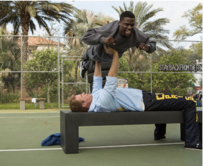 "Will Ferrell, bottom, and Kevin Hart in ""Get Hard."" Photo by Patti Perret - Warner Bros. Entertainment Inc."