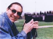 Jay Asquini with camera in 1998