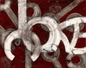 """Painting """"Yoke"""" by Yvette Rock"""