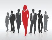 Women and men in silhouette.